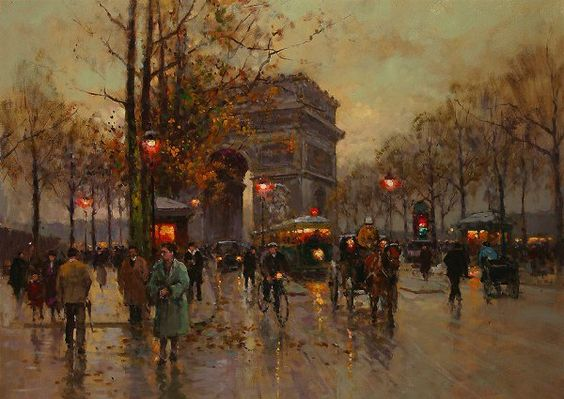 edouard Leon cortes pintor poeta paris pintura. Arc de Triomphe