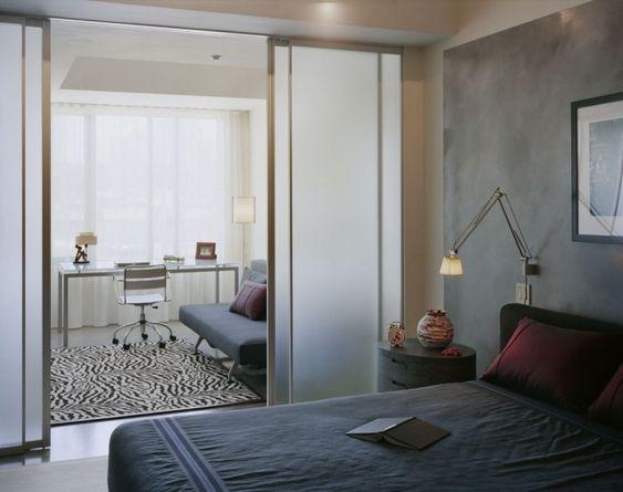 porte coulissante pour plus d'intimité dans votre chambre