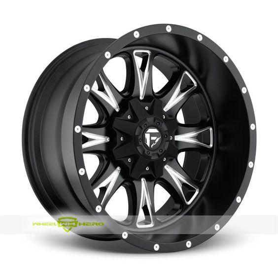 Fuel Throttle D513 Black Milled Wheels For Sale & Fuel Throttle D513 Rims And Tires