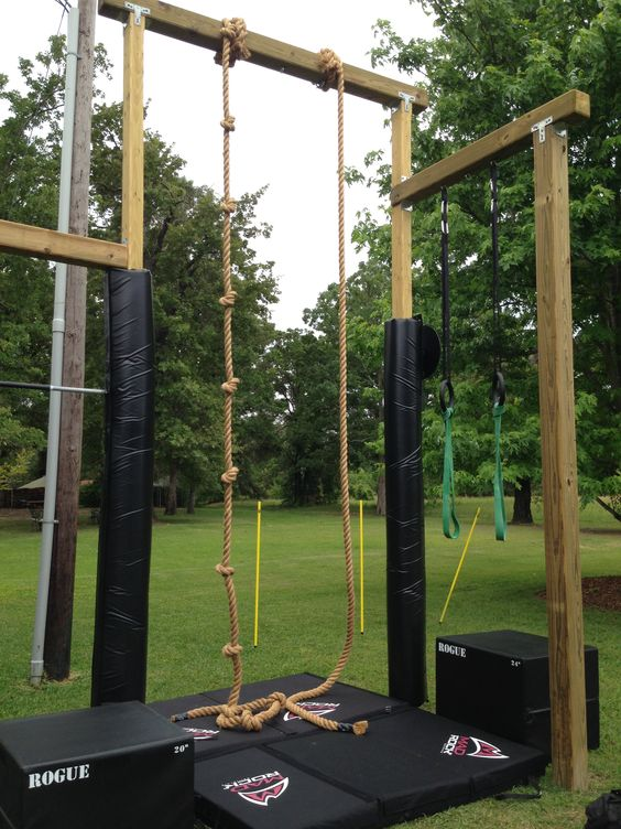 Rogue rope climb with mad rock pads re pinned by crossed