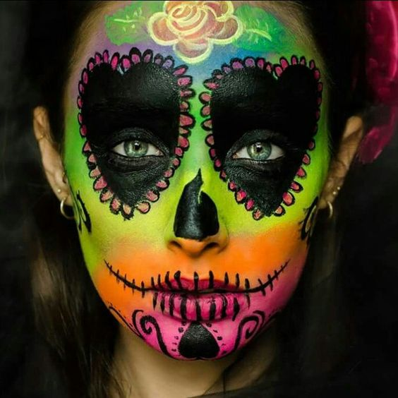 Colorful sugar skull Photographer: Lilach Ozan Model: Maya Ganor Facepaint: Michal Henig  | מיכל הניג | 052-5355933