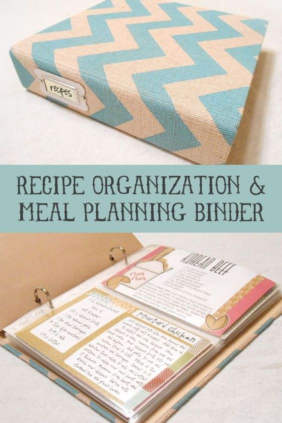 Recipe Organization and Meal Planning Binder... I WISH I could be this organized!