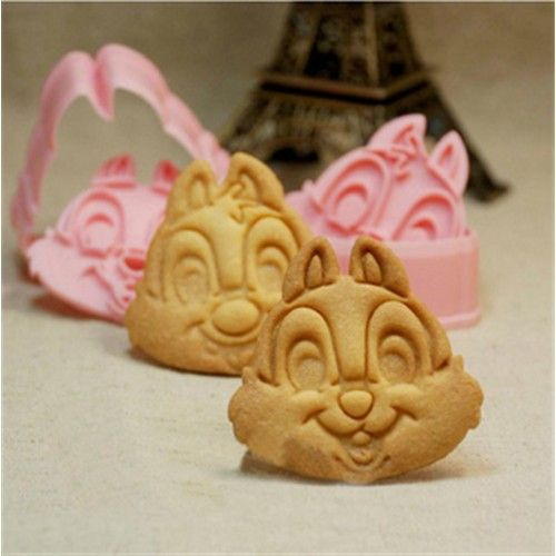 2 Pcs 3D Chipmunk Biscuit Cutter - Promotional Offers- - TopBuy.com.au