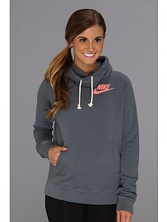 Nike Rally Funnel Neck Hoodie Armory Slate and Atomic Pink $65.00 ...