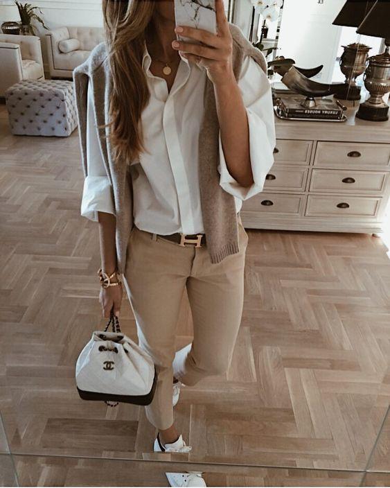 Как стильно носить белую рубашку весной 2019 - 10 непревзойденных идей   Новости моды