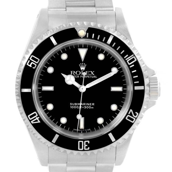 Rolex Submariner No Date Black Dial Stainless Steel Mens Watch 14060