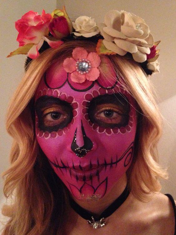Sugar Skull by Hannah Ainsworth www.freshandfunkyfaces.co.uk