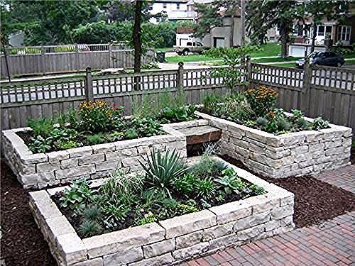 Ich Wollte Ein Hochbeet Aus Zedernholz Machen Aber Dieser Stein Ist Wunderschon Lo Garten In 2020 Rock Garden Design Garden Layout Garden Layout Vegetable