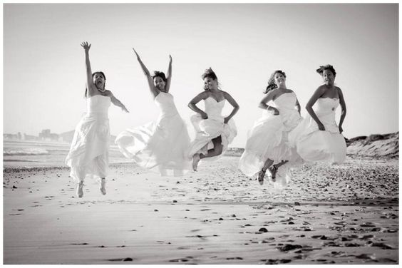 """I want to do this one day-  """"after all the friends are married, you put on your wedding dress one last time"""""""