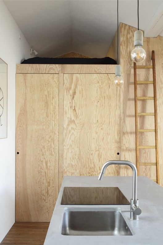 Gallery Of Pine Flat A6a 16 Tiny Apartment Small Apartments Industrial Style Kitchen