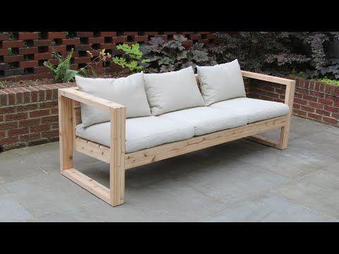 Diy Modern Outdoor Sofa The Falcon Wing Sofa Youtube In 2020 Outdoor Sofa Outdoor Furniture Sofa Modern Outdoor Sofas
