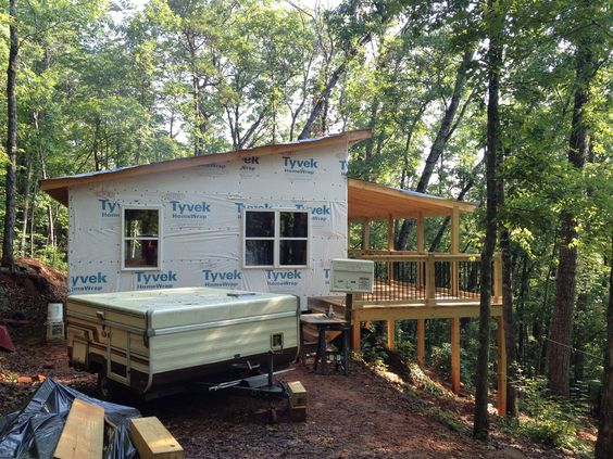 20 X 24 Shed Roof Cabin in upstate South Carolina: deck, add screen?