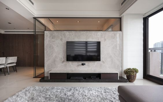 Interior Designing Wonderful Contemporary Living Room Design Features Amazing Italian Marble Wall Room Divider Home Audio Receivers Amplifiers