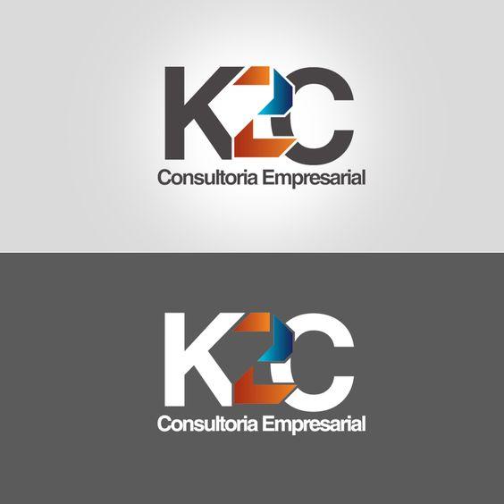 Identidade criada para a K2C, empresa de consultoria empresarial.