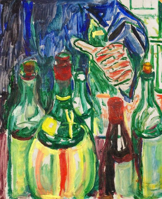 The Athenaeum - Hand Reaching out for Bottles (Edvard Munch - )