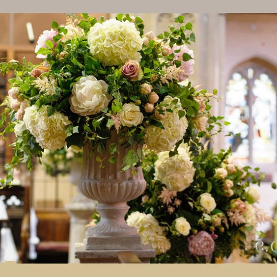 Floral Urns For Weddings: Flower Arrangements, Pedestal And Church On Pinterest