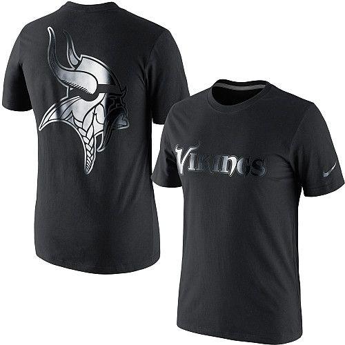 Men's Nike Minnesota Vikings Black on Black T-Shirt - ESPN Shop ...
