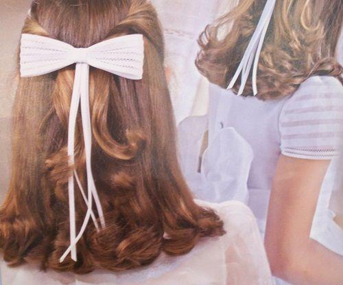 Peinados de comunion para vestidos cl sicos primera - Peinados sencillos para comunion ...
