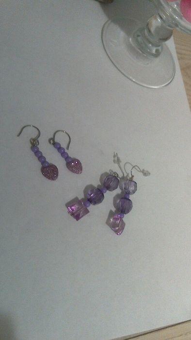 Katydids Set of 2 Purple Dangle Earrings