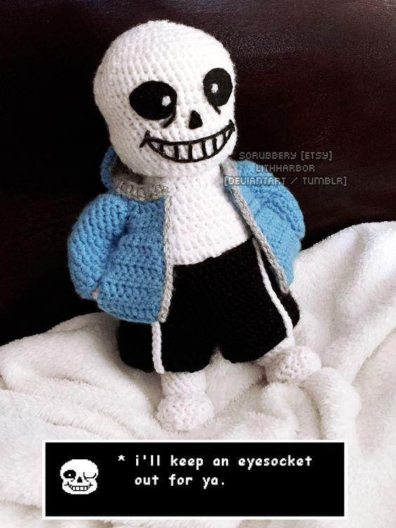 Undertale Amigurumi Pattern : Undertale - Sans the Skeleton by lithharbor Amigurumi ...