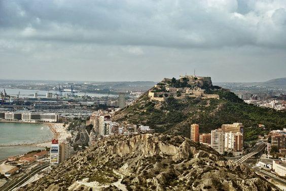 El castillo visto a vista de pajaro....