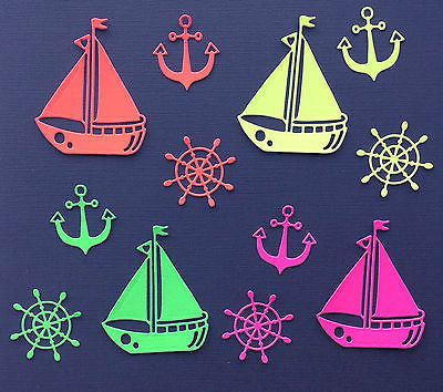 Boat & #anchor #marine, nautical, sailing die cut shapes - #assorted sets of 12,  View more on the LINK: http://www.zeppy.io/product/gb/2/351726051194/