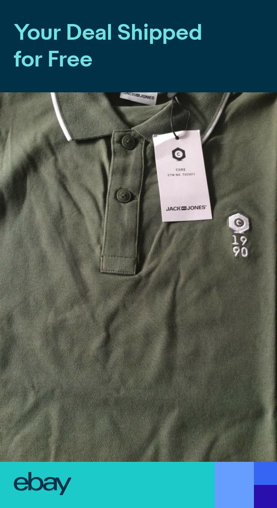 slim fit S-XXL Jack /& Jones Rafsman Jersey Polo shirt 2 prints 4 colours