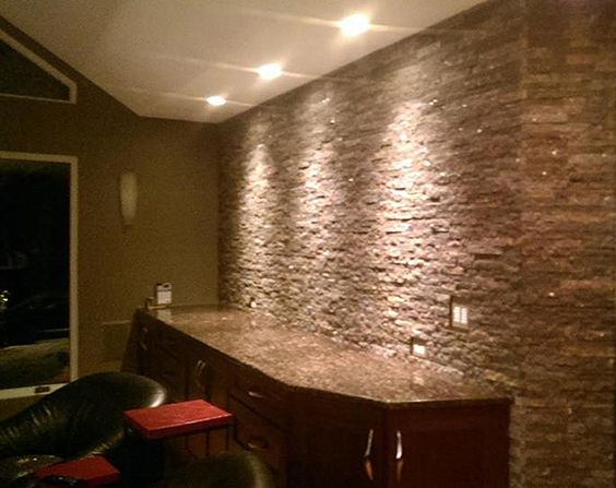 Man Cave Franchise : Recycling center granite tile and the den on pinterest