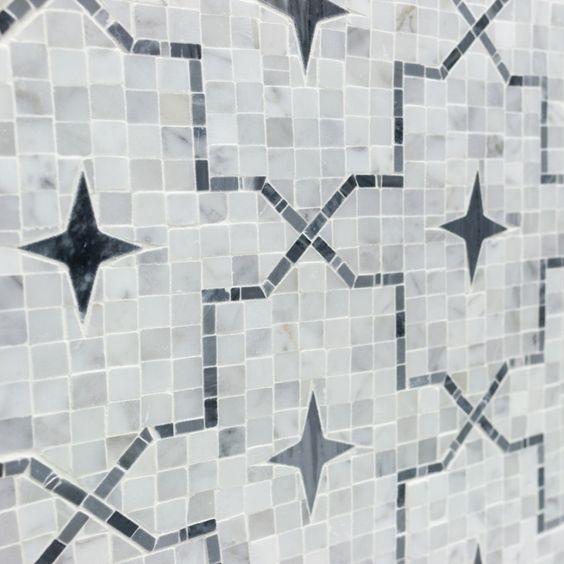 Alcazar White Carrara And Bardiglio Marble Tile | Tilebar.com