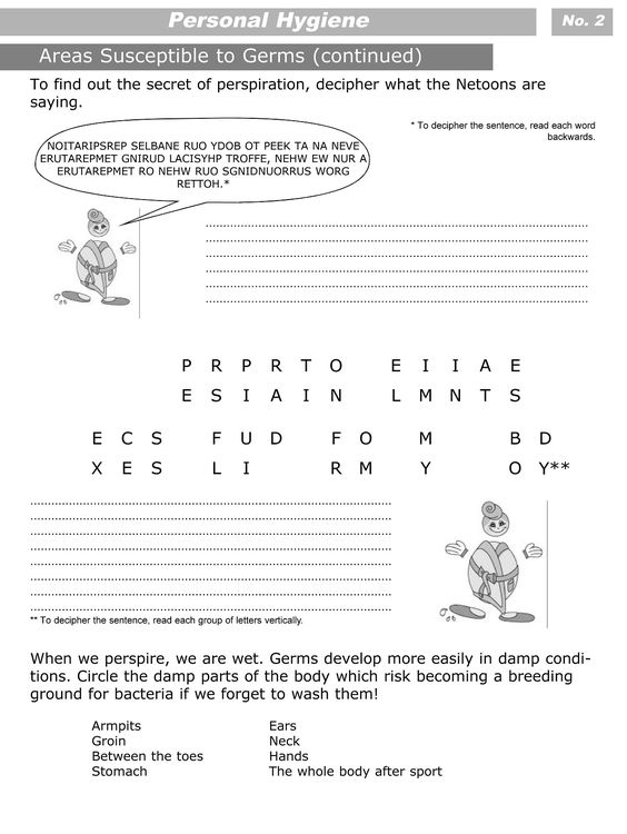 Worksheet Hygiene Worksheets For Elementary Students personal hygiene worksheets for kids and on pinterest level 3 2