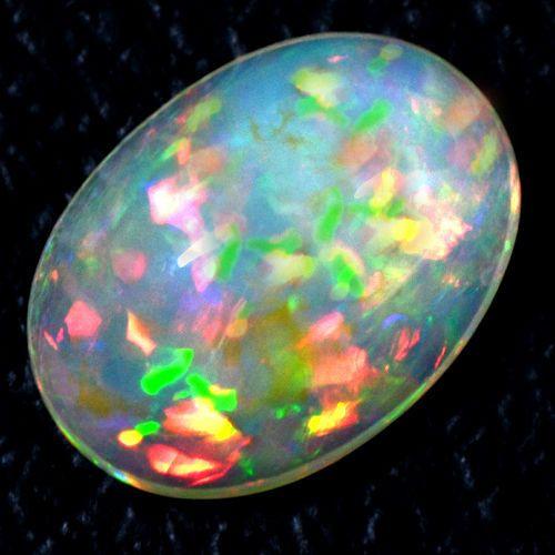4 48 cts Natural Sharp Rainbow Fire Ethiopian Welo Opal Oval Cabochon Gemstone $ | eBay