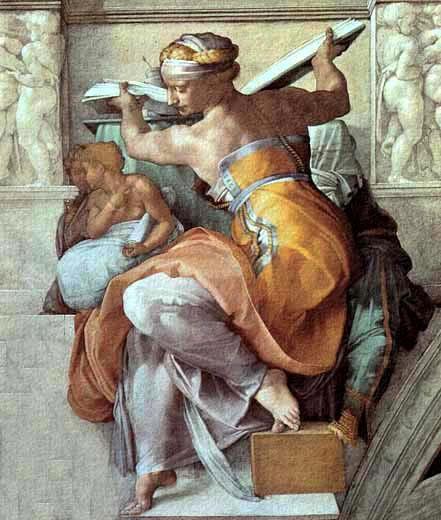 Pintura al fresco por el florentino Michelangelo.