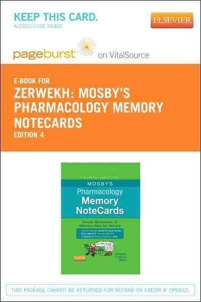 Mosby's Pharmacology Memory Notecards Pageburst E-book on Vitalsource Retail Access Card: Visual, Mnemoni...