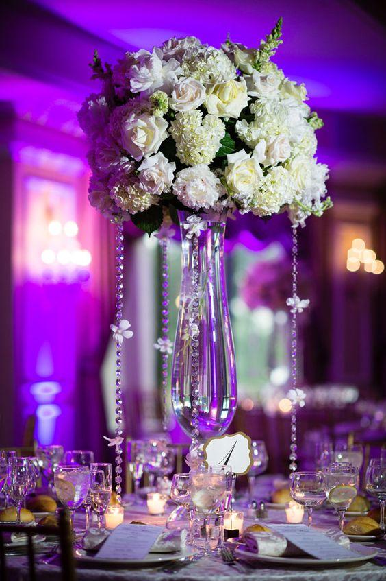 Elegant castle wedding boda primavera y nueva york - Centros de mesa elegantes ...