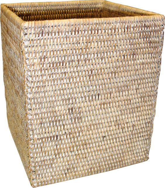 BAM004-WW: Square Waste Basket