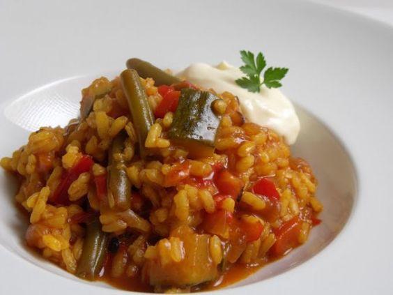 Receta Plato : Arroz caldoso de verduras variadas por Cocinar es ponerse