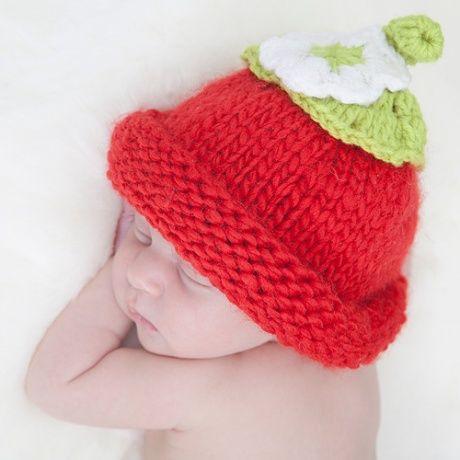 Gorrito crochet en forma de fresa gorrito de ganchillo - Gorritos bebe ganchillo ...