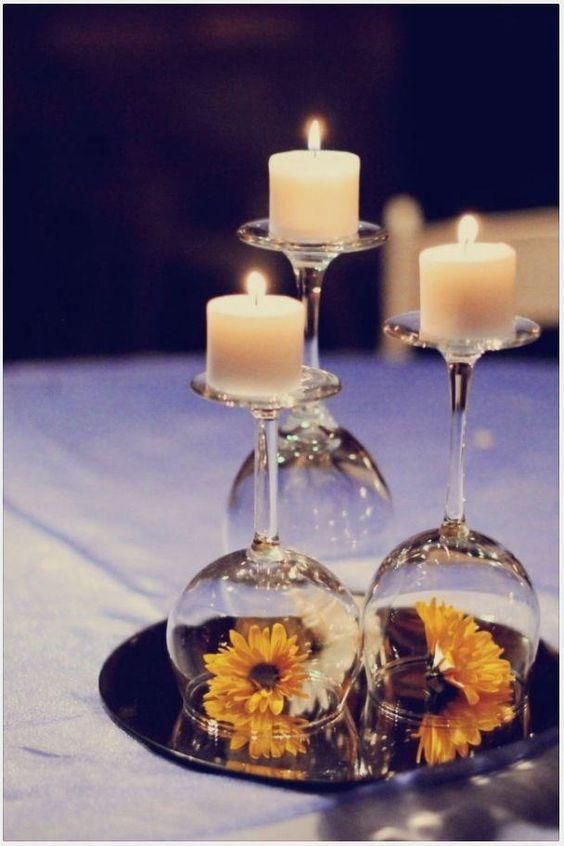 Idea para centro de mesa con velas. Contacto l https://nestorcarrarasrl.wordpress.com/e-commerce/ Néstor P. Carrara S.R.L l ¡En su 35° aniversario!