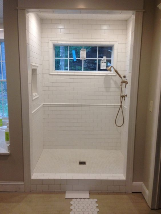 Bathroom Window Molding tile trim around shower window. | master bath | pinterest | shower