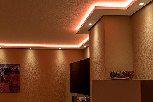 Stuckleisten, Lichtprofil für indirekte LED Beleuchtung von Wand - led leisten küche