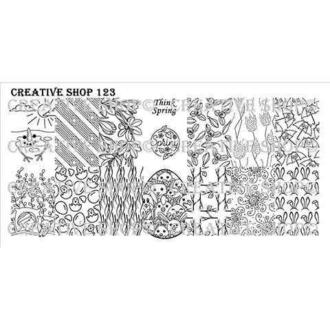 COMING SOON Creative Shop- Stamping Plate- 123