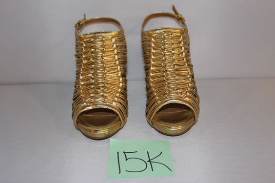 Kelsi Dagger Women's Trudel Pump Gold Leather 9 M US NIB #KelsiDagger #PumpsClassics