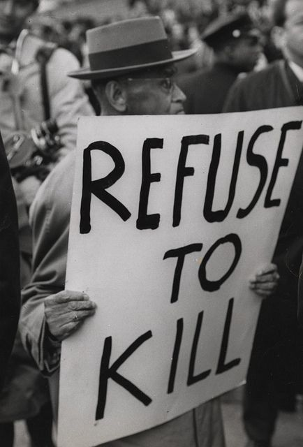 Draft protest at Foley Square (New York, N.Y.) (October 28, 1965) by Penn State Special Collections Library, via Flickr