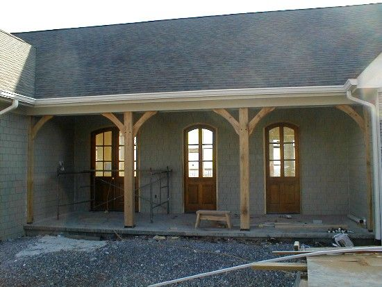 Exterior Porch Columns | Front Porch With Columns Installed Not Yet ...