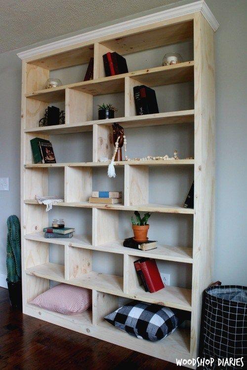 Build A Modern Diy Bookshelf In 6 Easy Steps With Video Bookshelves Diy Diy Bookshelf Wall Bookcase Diy