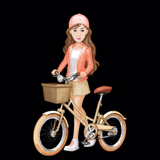 Chinky Bicycle Rider