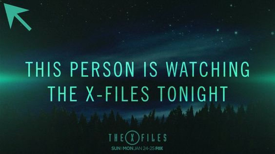 Post this on any social media site when your watching The X Files on Monday!