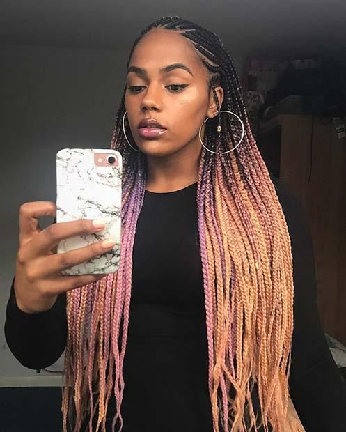 25 Best Black Braided Hairstyles To Copy In 2018 Hair Styles Ghana Braids Hairstyles Braids For Black Hair