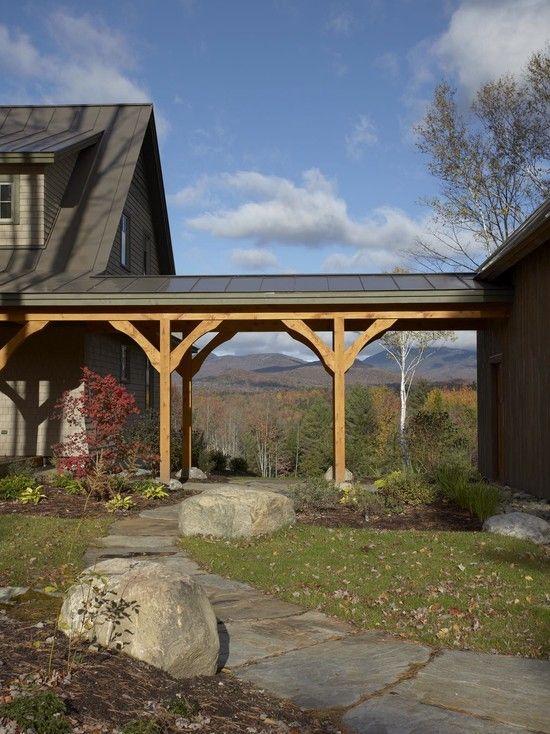 Breezeway Between Home Carport Small House Plans