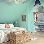 Like the sea green color and the decor
